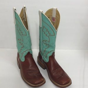 🌻HP🎉 Anderson Bean Boot Co Turquoise Boots S1016